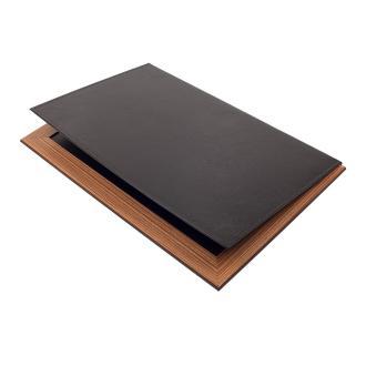 Δερμάτινο Σετ γραφείου με ξύλο Lux 11 τεμάχια Μαύρο