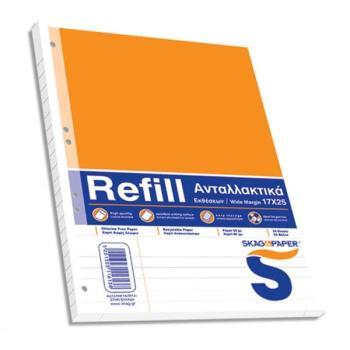 Ανταλλακτικά φύλλα REFILL για ντοσιέ 17x25 Έκθεσης SKAG 50φ 116138