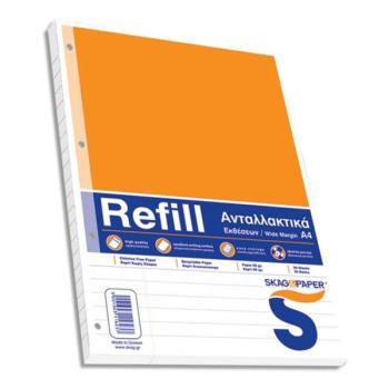 Ανταλλακτικά φύλλα REFILL για ντοσιέ Α4 Έκθεσης SKAG 50φ 116237