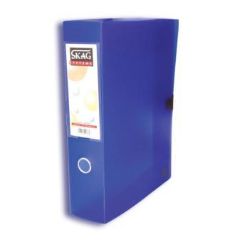 Κουτιά Αρχειοθέτησης SKAG Διαφανές με Κούμπωμα 36,5X27 Ράχη 8cm (5 χρώματα) 229333