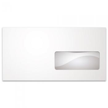 Φάκελλα Λευκά Καρρέ Αυτοκόλλητα TYPOTRUST Παράθυρο Δεξί 90gr 114 x 229 (500 ΤΕΜ)