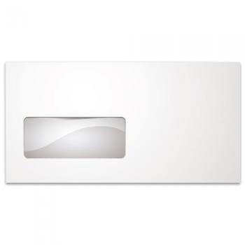 Φάκελλα Λευκά Καρρέ Αυτοκόλλητα TYPOTRUST Παράθυρο Αριστερά 90gr 114 x 229 (500 ΤΕΜ)