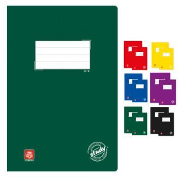 Σχολικά τετράδια δεμένα TYPOTRUST Study 50 φύλλα 17x25 (6 χρώματα)