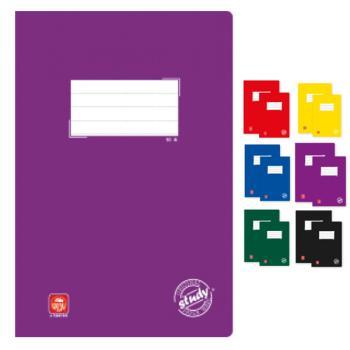 Σχολικά τετράδια δεμένα TYPOTRUST Study 50 φύλλα Α4 (6 χρώματα)