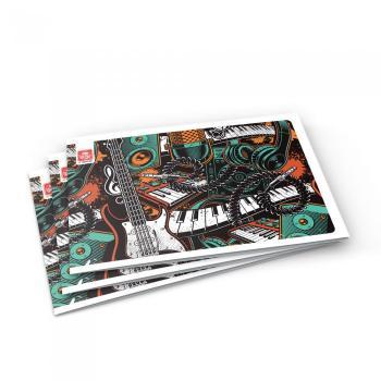 Σχολικό τετράδιο TYPOTRUST μουσικής 17x25cm πλάγιο 40 φύλλα (4 σχέδια)