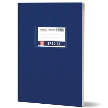 Σχολικό τετράδιο βιβλιοδετημένο TYPOTRUST 17x25cm μπλε 80 φύλλα