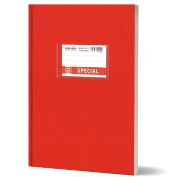 Σχολικό τετράδιο βιβλιοδετημένο TYPOTRUST 17x25cm κόκκινο 80 φύλλα