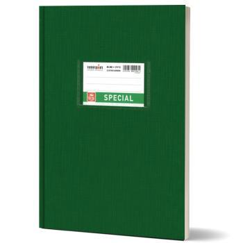 Σχολικό τετράδιο βιβλιοδετημένο TYPOTRUST 17x25cm πράσινο 80 φύλλα