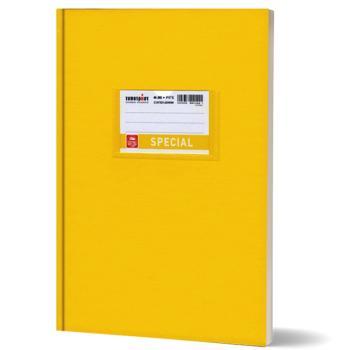 Σχολικό τετράδιο βιβλιοδετημένο TYPOTRUST 17x25cm κίτρινο 80 φύλλα