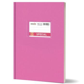 Σχολικό τετράδιο βιβλιοδετημένο TYPOTRUST 17x25cm φούξια 80 φύλλα