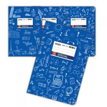 Σχολικά τετράδια Doodles SPECIAL 17 x 25 μπλε 50 φύλλα