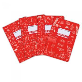 Σχολικά τετράδια Doodles SPECIAL 17 x 25 κόκκινο 50 φύλλα