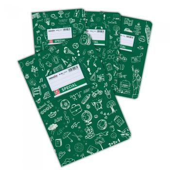 Σχολικά τετράδια Doodles SPECIAL 17 x 25 πράσινο 50 φύλλα