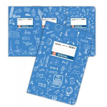 Σχολικά τετράδια Doodles SPECIAL 17 x 25 γαλάζιο 50 φύλλα