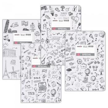 Σχολικά τετράδια Doodles SPECIAL 17 x 25 λευκό 50 φύλλα