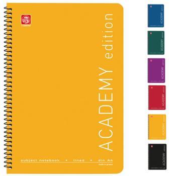 Σχολικά τετράδια σπιράλ TYPOTRUST ACADEMY 2 Θέματα Α4 (6 χρώματα)