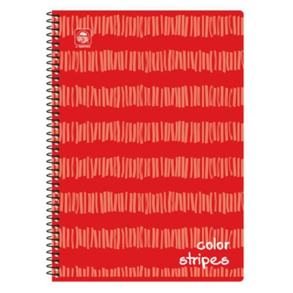 Σχολικά τετράδια σπιράλ TYPOTRUST COLOR STRIPES 3 Θέματα A4 (8 χρώματα)