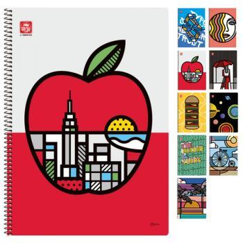 Σχολικά τετράδια σπιράλ TYPOTRUST POP ART 2 Θέματα Α4 (10 σχέδια)