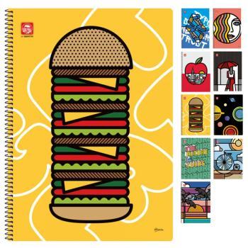 Σχολικά τετράδια σπιράλ TYPOTRUST POP ART 4 Θέματα Α4 (10 σχέδια)