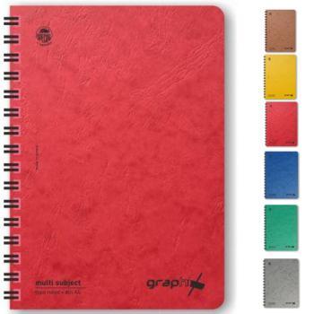 Σχολικά τετράδια σπιράλ TYPOTRUST Graphix 3 Θέματα 17x25 (6 χρώματα)