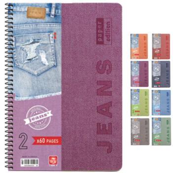 Σχολικά τετράδια σπιράλ TYPOTRUST Jeans 3 Θέματα 17x25 (8 χρώματα)