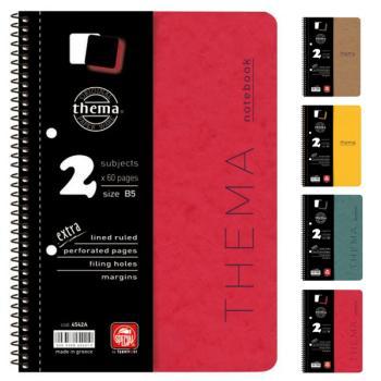 Σχολικά τετράδια σπιράλ TYPOTRUST Thema 4 Θέματα 17x25 (4 χρώματα)