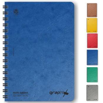 Σχολικά τετράδια σπιράλ TYPOTRUST Graphix 4 Θέματα 17x25 (6 χρώματα)