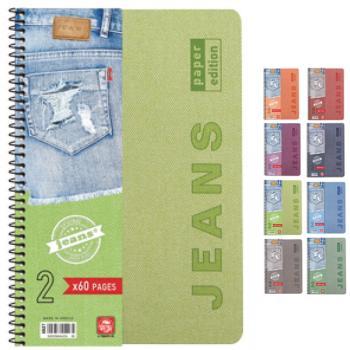 Σχολικά τετράδια σπιράλ TYPOTRUST Jeans 5 Θέματα 17x25 (8 χρώματα)