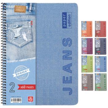 Σχολικά τετράδια σπιράλ TYPOTRUST Jeans 2 Θέματα Α4 (8 χρώματα)