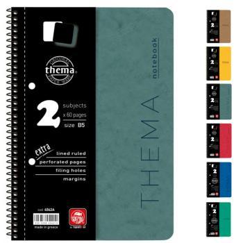 Σχολικά τετράδια σπιράλ TYPOTRUST Thema 4 Θέματα Α4 (6 χρώματα)