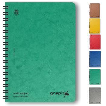 Σχολικά τετράδια σπιράλ TYPOTRUST Graphix 4 Θέματα Α4 (6 χρώματα)