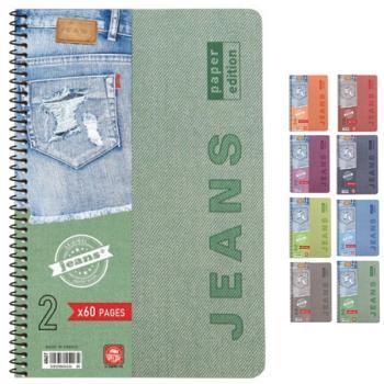 Σχολικά τετράδια σπιράλ TYPOTRUST Jeans 4 Θέματα Α4 (8 χρώματα)