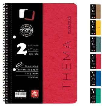 Σχολικά τετράδια σπιράλ TYPOTRUST Thema 5 Θέματα Α4 (6 χρώματα)
