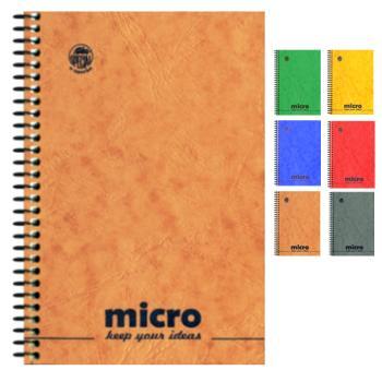 Μπλοκ σημειώσεων σπιράλ TYPOTRUST 2 Θέματα Pressboard MICRO No2 9X12 (6 χρώματα)