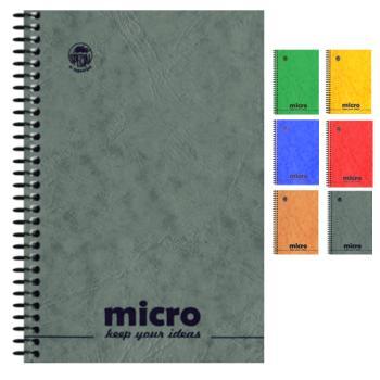Μπλοκ σημειώσεων σπιράλ TYPOTRUST 2 Θέματα Pressboard MICRO No3 10X14.5 (6 χρώματα)