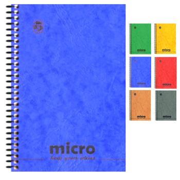 Μπλοκ σημειώσεων σπιράλ TYPOTRUST 2 Θέματα Pressboard MICRO No4 13X18 (6 χρώματα)