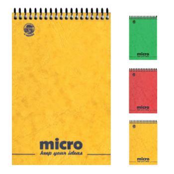 Μπλοκ σημειώσεων σπιράλ TYPOTRUST 2 Θέματα Pressboard MICRO No1 9X12 (3 χρώματα)