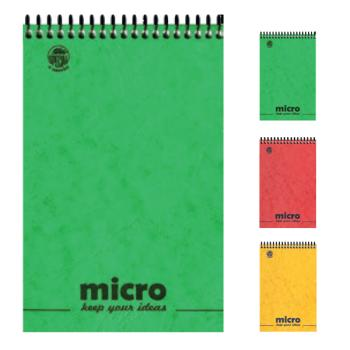 Μπλοκ σημειώσεων σπιράλ TYPOTRUST 2 Θέματα Pressboard MICRO No2 9X15 (3 χρώματα)
