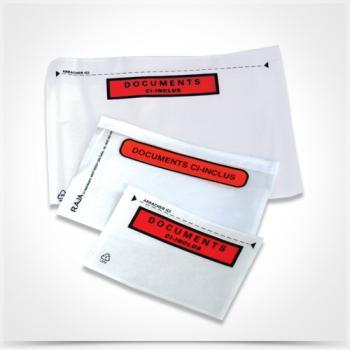 Αυτοκόλλητες διαφανείς θήκες εγγράφων TYPOTRUST courier C4 315 x 240 (250 ΤΕΜ)