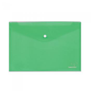 Φάκελος κουμπί TYPOTRUST διαφανής 24x32cm πράσινος