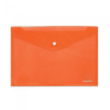 Φάκελος κουμπί TYPOTRUST διαφανής 24x32cm πορτοκαλί
