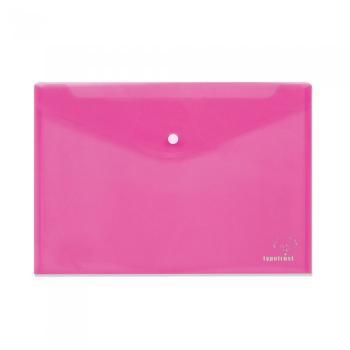 Φάκελος κουμπί TYPOTRUST διαφανής 24x32cm ροζ