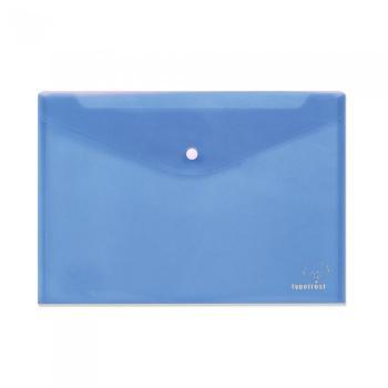 Φάκελος κουμπί TYPOTRUST διαφανής 24x32cm μπλε