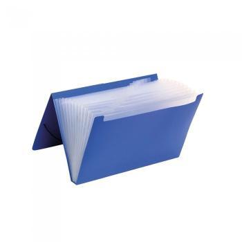 Φάκελος αρχειοθέτησης TYPOTRUST φυσαρμόνικα Α4 μπλε