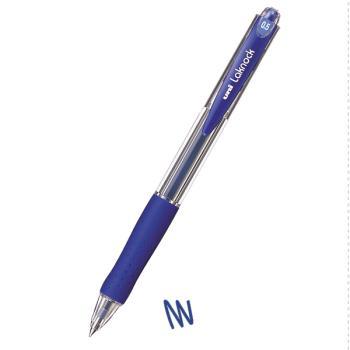 Στυλό διαρκείας UNI SN-100 LAKNOCK με κουμπί 0.5 μπλε