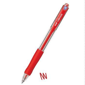 Στυλό διαρκείας UNI SN-100 LAKNOCK με κουμπί 0.5 κόκκινο