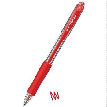 Στυλό διαρκείας UNI SN-100 LAKNOCK με κουμπί 0.7 κόκκινο