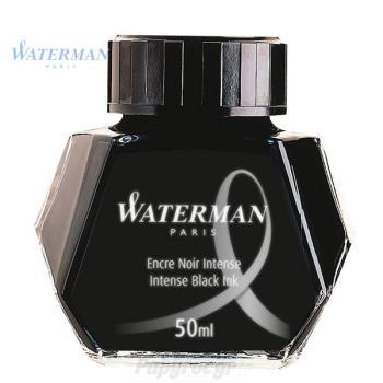 Μελάνι πένας σε μπουκάλι WATERMAN μαύρο 50ml S0110710