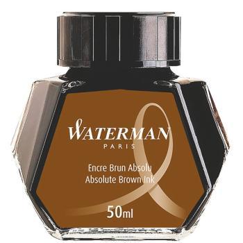 Μελάνι πένας σε μπουκάλι WATERMAN καφέ 50ml S0110830