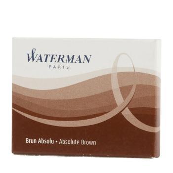 Μελάνι πένας WATERMAN καφέ (8 ανταλλακτικά) S0110930